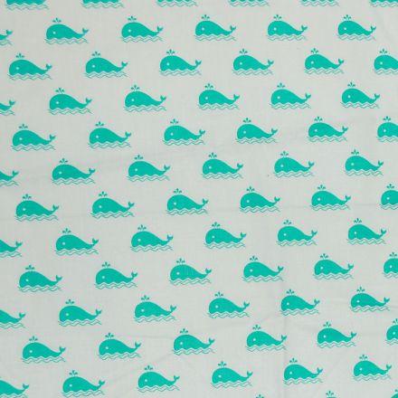 Metráž: Bavlna s velrybami