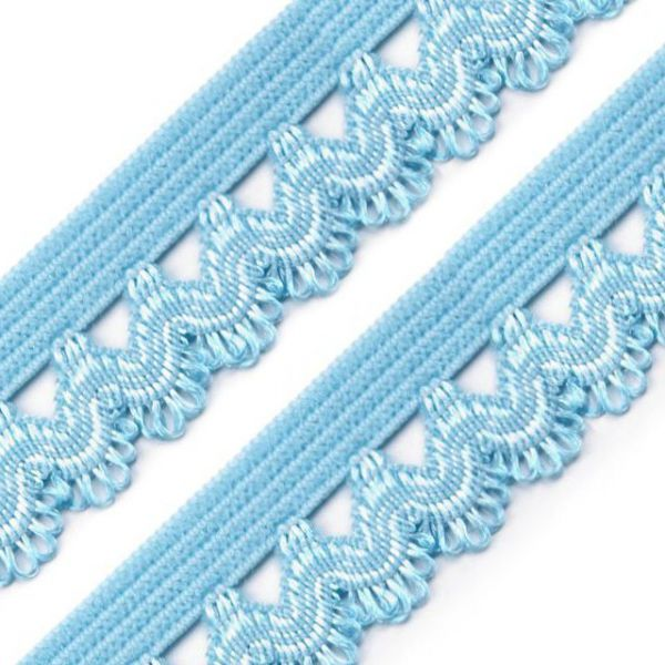 Ozdobná pruženka šíře 15 mm - modrá