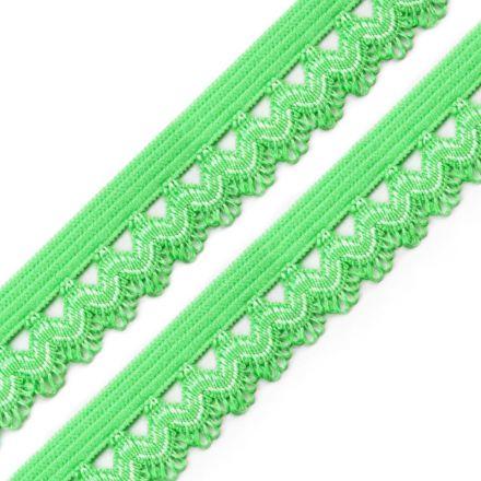 Galanterie: Ozdobná pruženka šíře 15 mm - zelená