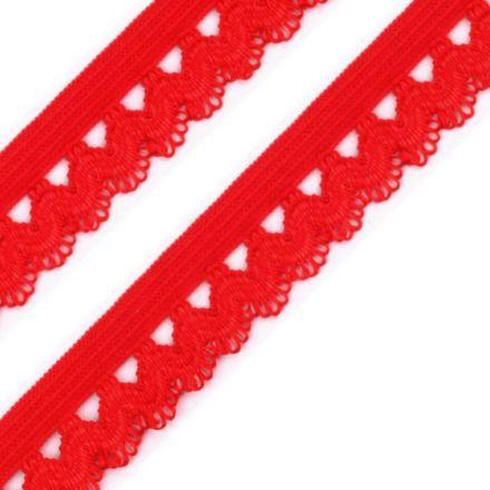 Galanterie: Ozdobná pruženka šíře 15 mm - červená