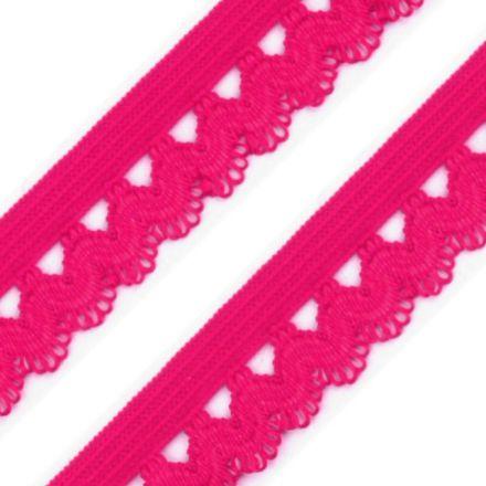 Galanterie: Ozdobná pruženka šíře 15 mm - růžová malinová