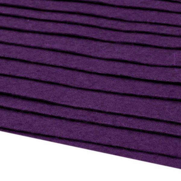 Filc 20x30cm - tmavě fialová