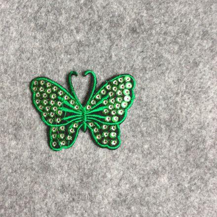 Galanterie: Aplikace motýl - zelená