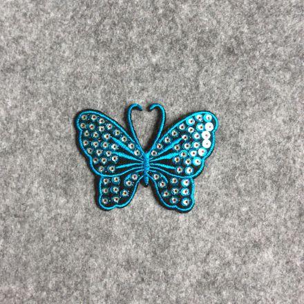 Galanterie: Aplikace motýl - modrá