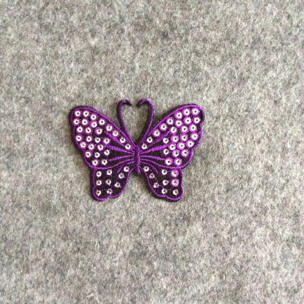 Galanterie: Aplikace motýl - fialová