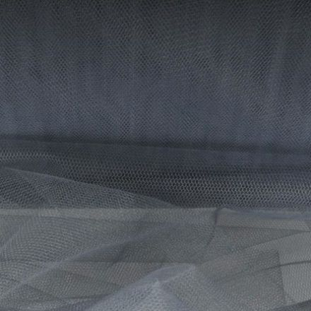 Metráž: Tyl tmavě šedý