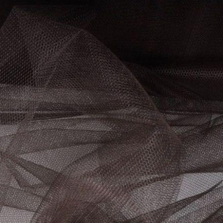 Metráž: Tyl tmavě hnědý