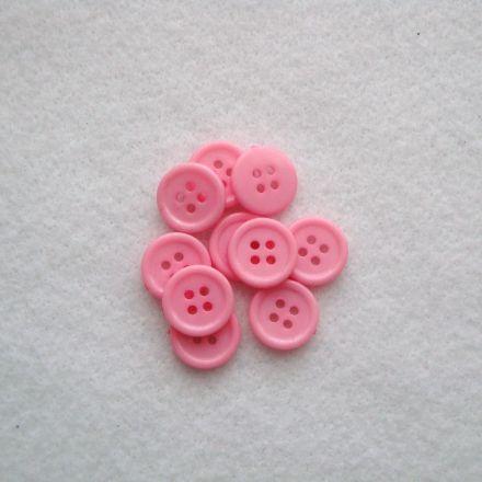Galanterie: Knoflík plastový 15 mm - sv. růžová