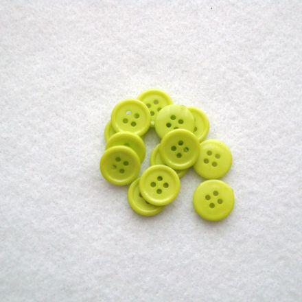 Galanterie: Knoflík plastový 15 mm - sv.zelená