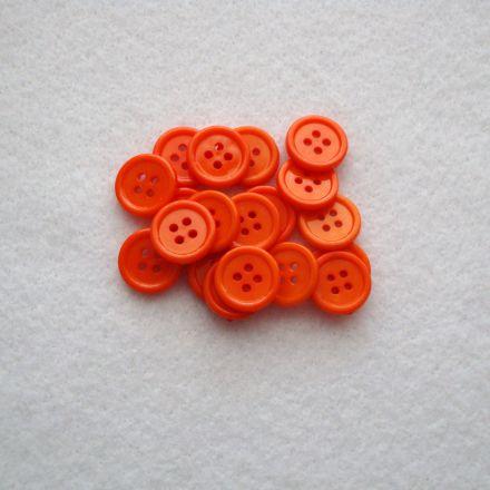 Galanterie: Knoflík plastový 15 mm - oranžová