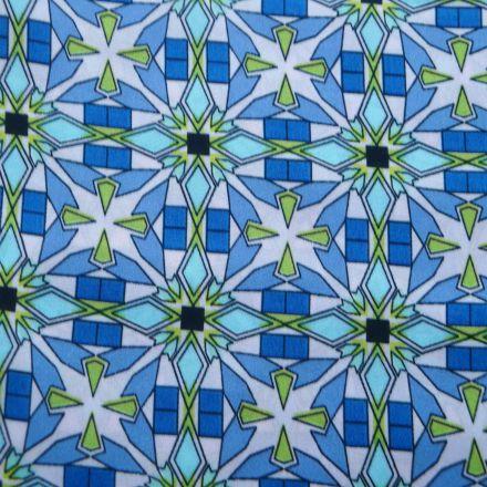 Metráž: Šatovka modrý vzor