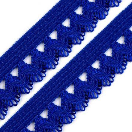 Galanterie: Ozdobná pruženka šíře 15 mm - modrá