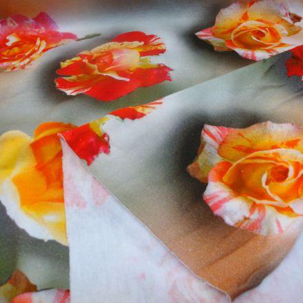 Metráž: Teplákovina květy