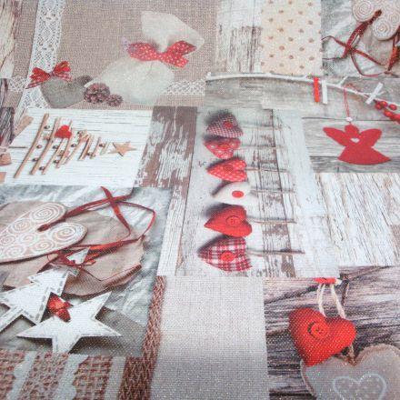 Metráž: Dekorační vánoční látka
