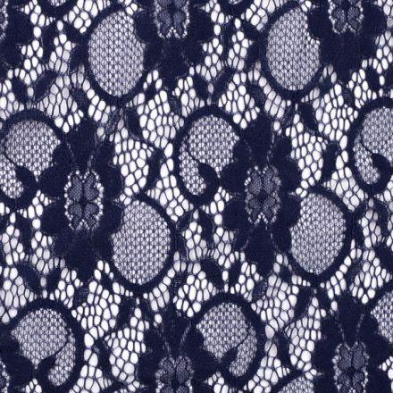 Metráž: Krajka elastická modrá
