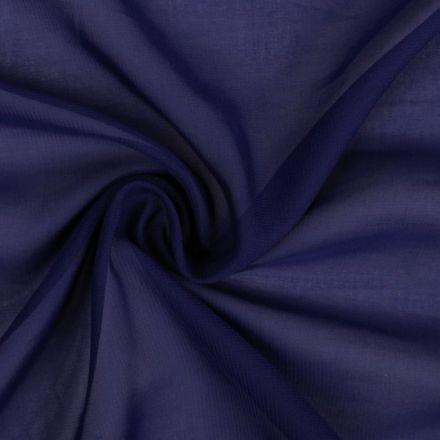 Metráž: Šifón tmavě modrý