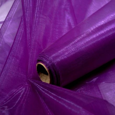 Galanterie: Dekorační organza fialová