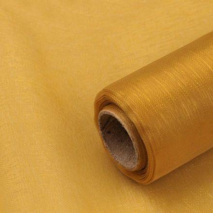 Galanterie: Dekorační organza zlatá