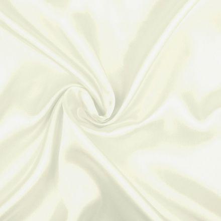 Metráž: Satén elastický smetanový