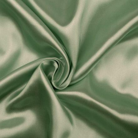 Metráž: Satén elastický zelený