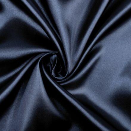 Metráž: Satén elastický modrý