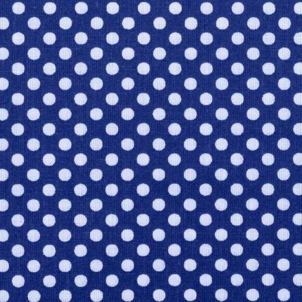 Metráž: Bavlna puntík modrý