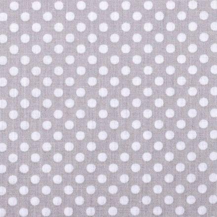 Metráž: Bavlna puntík světle šedý