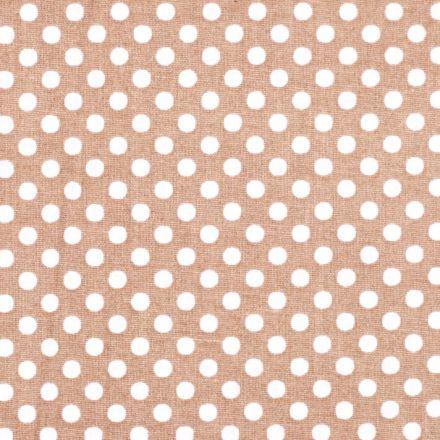 Metráž: Bavlna puntík přírodně hnědá