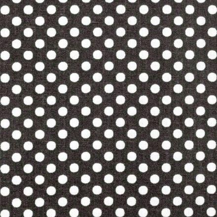 Metráž: Bavlna puntík černá