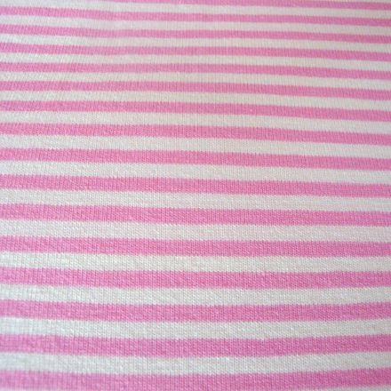 Metráž: Úplet růžové pruhy