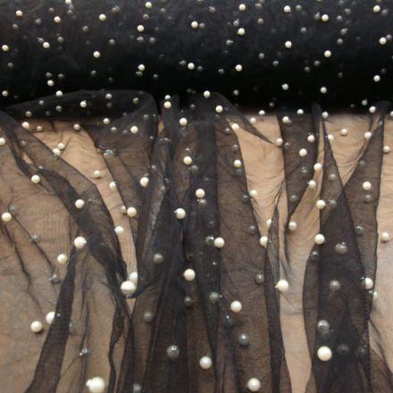 Metráž: Tyl s perličkami