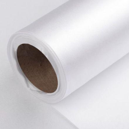 Galanterie: Satén šíře 14 cm - bílá