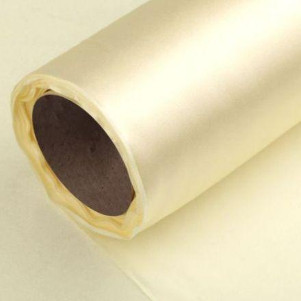 Galanterie: Satén šíře 14 cm - krémová