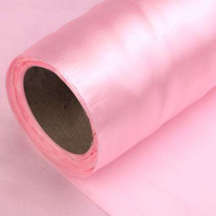 Galanterie: Satén šíře 14 cm - růžová