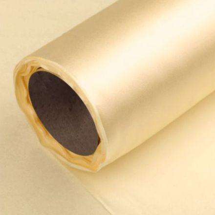 Galanterie: Satén šíře 14 cm - zlatá
