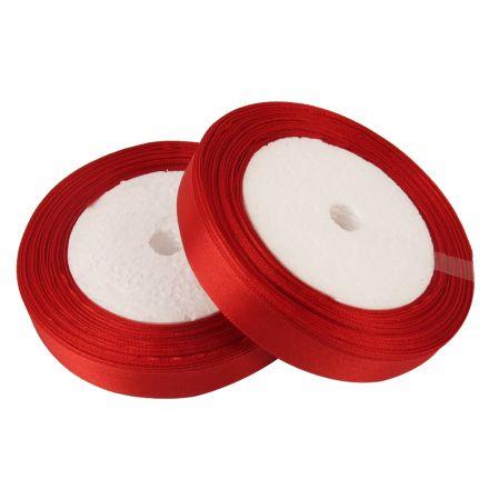 Galanterie: Atlasová stuha červená - 6 mm