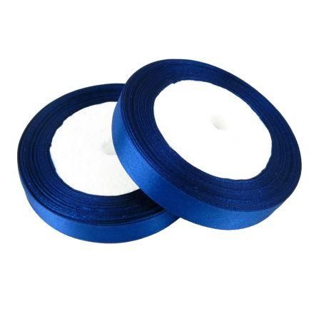 Galanterie: Atlasová stuha tmavě modrá - 6 mm