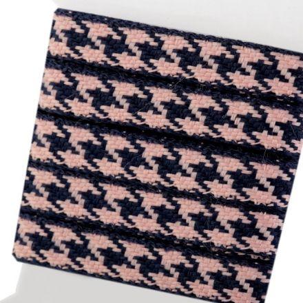 Galanterie: Vzorovka kohoutí stopa - růžová