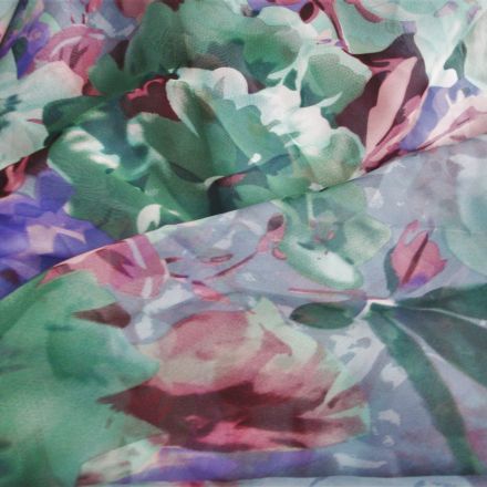 Metráž: Šifon květovaný vzor