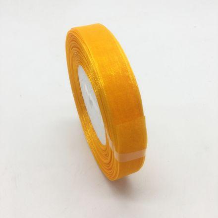 Galanterie: Monofilová stuha žlutá 9 mm