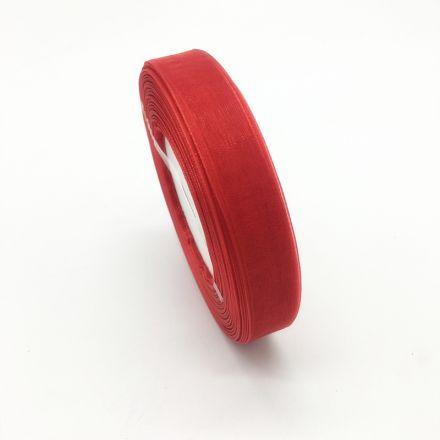 Galanterie: Monofilová stuha červená 9 mm