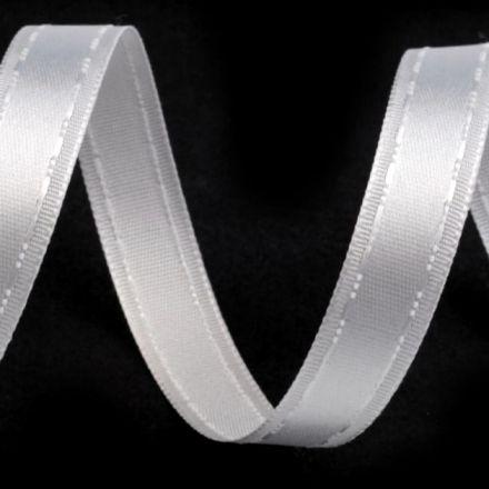 Galanterie: Atlasová stuha bílá - 13 mm