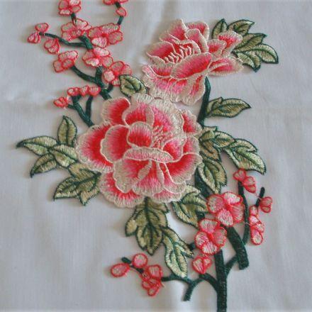 Galanterie: Aplikace květ - 34x24 cm