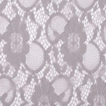 Metráž: Krajka elastická šedá