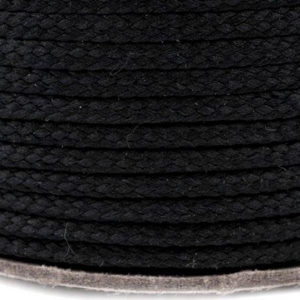 Oděvní šňůra - černá