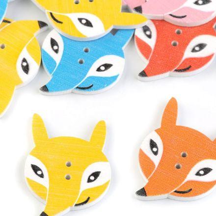 Galanterie: Knoflík liška - žlutá