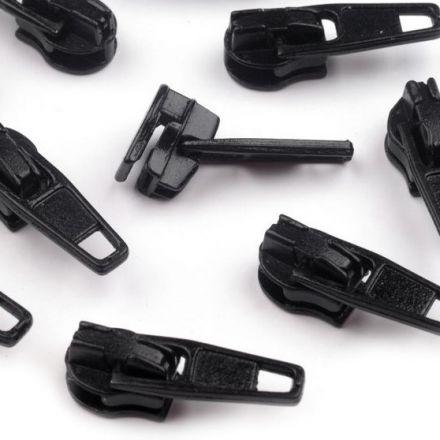 Galanterie: Jezdec k zipům šíře 3 mm - černá