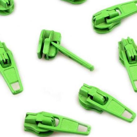 Galanterie: Jezdec k zipům šíře 3 mm - zelená