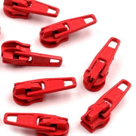 Galanterie: Jezdec k zipům šíře 3 mm - červená