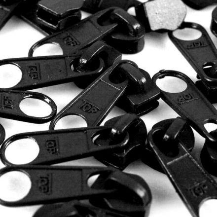 Galanterie: Jezdec k zipům šíře 5 mm - černá